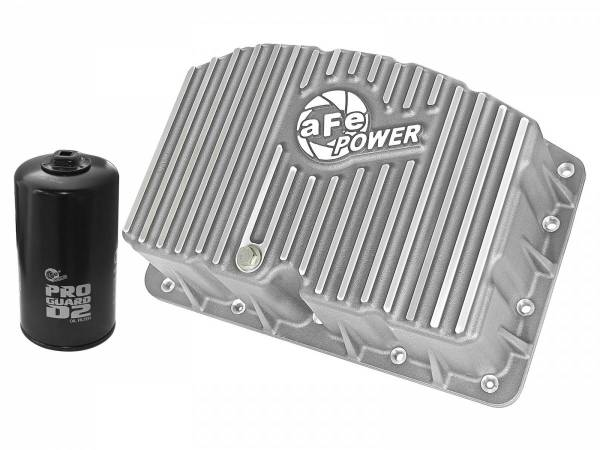 AFE - aFe Power Engine Oil Pan - Raw Finish | Ford Diesel Trucks 11-19 V8-6.7L