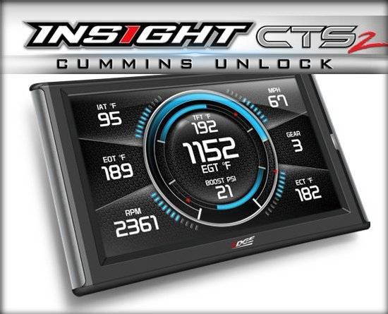 EDGE PRODUCTS - 84132 INSIGHT CTS2 MONITOR CUMMINS UNLOCK (2013 and NEWER CUMMINS WITH UNLOCK CABLE)