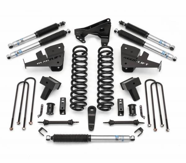 ReadyLift - ReadyLift 2017-2018 FORD F350/F450 5'' Lift Kit with Bilstein Shocks - 2 Piece Drive Shaft 49-2750