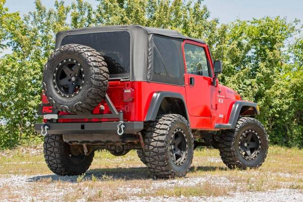 Rough Country - Jeep Classic Full Width Rear Bumper w/Tire Carrier (87-06 Wrangler YJ/TJ)