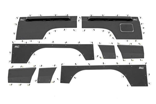 Rough Country - Jeep Front & Rear Upper and Lower Quarter Panel Armor - (84-96 Cherokee XJ)