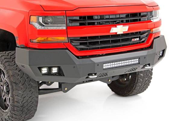 Rough Country - Chevy Heavy-Duty Front LED Bumper (16-18 1500)
