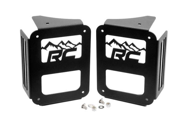 Rough Country - Jeep Tail Light Covers | Mountains (07-18 Wrangler JK)
