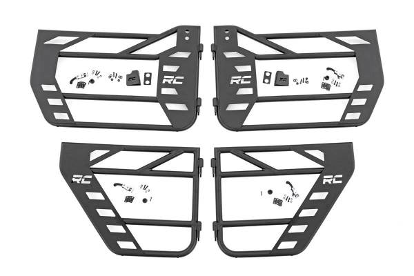 Rough Country - Jeep Front & Rear Steel Tube Doors (07-18 Wrangler JK)