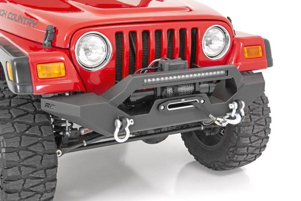 Rough Country - Jeep Full Width Front LED Winch Bumper (87-06 Wrangler YJ/TJ)