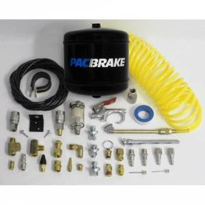 Steering And Suspension - Air Suspension Parts - Pac Brake - Pacbrake HP10053 1/2 Gal Air Tank, Air Accessories & Curly Hose Kit