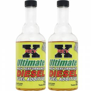 REV-X - 2 - Rev-X 8 Ounce Bottles of Ultimate Fuel Additive for Diesels