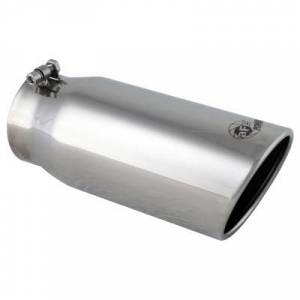 "Exhaust - Exhaust Tips - AFE - AFE 49-90002 Exhaust Tip 4""x5""x12"" Hex-Bolt Laser Etched Logo"