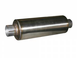 """AFE - AFE 49-91002 Stainless Steel Muffler 4"""" ID In/Out - 8"""" Dia - 30"""" Long"""