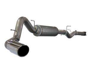 Exhaust - Exhaust Systems - AFE - aFe Power 4in CB; GM Silverado/Sierra 2500/3500 01-05 V8-6.6L W/Mflr Pol Tip - 49-44001