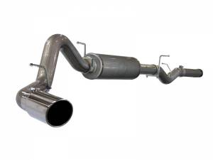 "AFE - aFe Power Large Bore-HD 4"" 409 Stainless Steel Cat-Back Exhaust System GM Duramax 06-07"