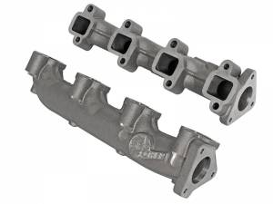 Exhaust - Exhaust Manifolds - AFE - aFe Power BladeRunner Ported Ductile Iron Exhaust Manifolds | GM Diesel Trucks 01-16 V8-6.6L