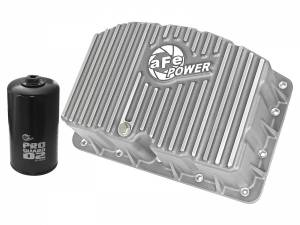 Engine Parts - Oil System - AFE - aFe Power Engine Oil Pan - Raw Finish | Ford Diesel Trucks 11-19 V8-6.7L