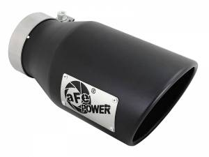 Exhaust - Exhaust Tips - AFE - aFe Power EXH Tip; 4In x 6Out x 12L in Bolt-On (Blk) - 49T40601-B12