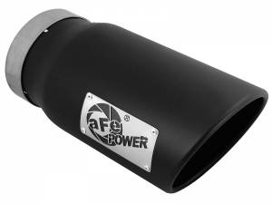 Exhaust - Exhaust Tips - AFE - aFe Power EXH Tip; 5In x 6Out x 12L in Bolt-On (Blk) - 49T50601-B12