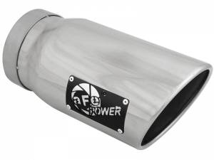 Exhaust - Exhaust Tips - AFE - aFe Power EXH Tip; 5In x 6Out x 12L in Bolt-On (Pol) - 49T50601-P12