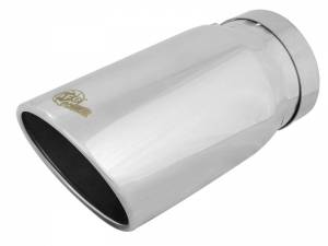 Exhaust - Exhaust Tips - AFE - aFe Power EXH Tip; 5In x 6Out x 12L in Bolt-On (Pol) - 49T50604-P12