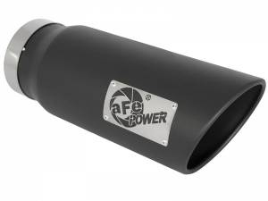 Exhaust - Exhaust Tips - AFE - aFe Power EXH Tip; 5In x 6Out x 15L in Bolt-On (Blk) - 49T50601-B15