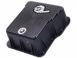 Transmission - Automatic Transmission Parts - AFE - aFe Power Transmission Pan, Machined Fins | GM Diesel Trucks 01-19 V8-6.6L
