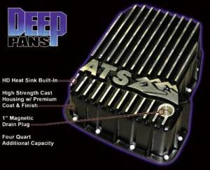Steering And Suspension - Differential Covers - ATS - ATS 3019004248 Deep Transmission Pan 01-09 Chevy & GMC Diesel Trucks