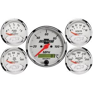 "Gauges & Pods - Gauges - Autometer - Autometer 1302-00408 GM Performance Parts Gauge Kit 3-1/8"" & 2-1/16"""