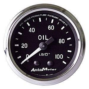 """Gauges & Pods - Gauges - Autometer - Autometer 201006 Cobra 2 1/16"""" Oil Pressure 0-100 PSI"""