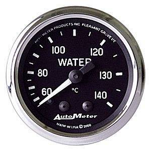 "Gauges & Pods - Gauges - Autometer - Autometer 201007 Carbon 2 1/16"" Water Temperature"