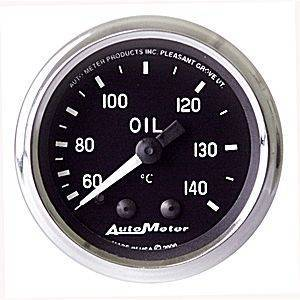 "Gauges & Pods - Gauges - Autometer - Autometer 201008 Carbon 2 1/16"" Oil Temperature"
