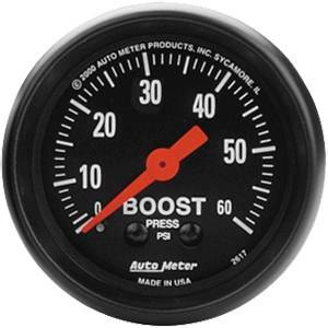 Gauges & Pods - Gauges - Autometer - Autometer 2617 BOOST Gauge 0-60 PSI, 2-1/16in SERIES (M)