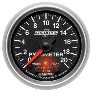 Gauges & Pods - Gauges - Autometer - Autometer 3647 Sport Comp II PC 2000 Degree Pyrometer