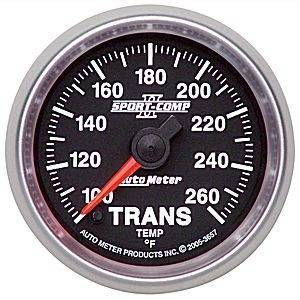 Gauges & Pods - Gauges - Autometer - Autometer 3649 100-250 Degree Electric Trans Temp. gauge - 2 1/16""