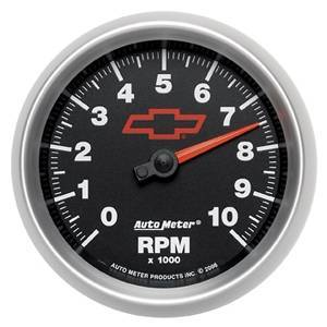 "Gauges & Pods - Gauges - Autometer - Autometer 3697-00406 GM Performance Parts 3 3/8"" Tachometer In-Dash"