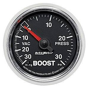 "Gauges & Pods - Gauges - Autometer - Autometer 3803 GS 2 1/16"" Vacuum Boost"