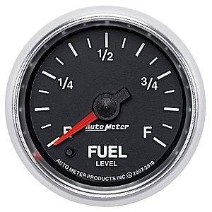 "Gauges & Pods - Gauges - Autometer - Autometer 3810 GS 2 1/16"" Fuel Level Programmable Empty-Full Range"