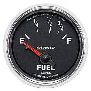 "Gauges & Pods - Gauges - Autometer - Autometer 3815 GS 2-1/16"" Fuel Level for Autometer #3262 Sending Unit"