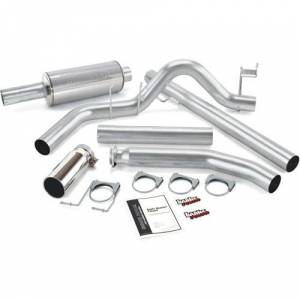 Exhaust - Exhaust Systems - Banks - Banks 48635 4-inch Monster Exhaust 98-02 Dodge 5.9L Standard Cab