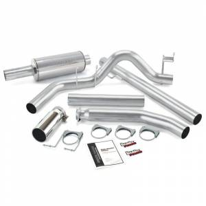 "Exhaust - Exhaust Systems - Banks - Banks 48636 4"" Monster Exhaust Fits 98.5-02 Dodge 5.9L Cummins Ext Cab"