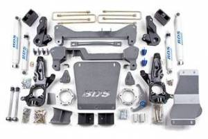 "Steering And Suspension - Lift & Leveling Kits - BDS Suspension - BDS 189H 7"" High Clearance Lift 01-10 GM 2500/3500 - Non-Torsion Bar"