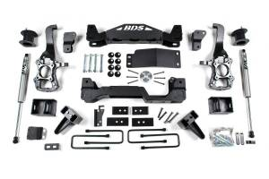 """Steering And Suspension - Lift & Leveling Kits - BDS Suspension - BDS 1507H 4"""" Suspension Lift Kit System for 2015-16 Ford F150 4WD"""