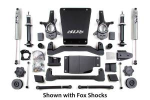 """Steering And Suspension - Lift & Leveling Kits - BDS Suspension - BDS 188H 4"""" Lift Kit for 2007-2014 Chevrolet/GMC 4WD Avalanche, Suburban, Tahoe, Yukon, and Yukon XL 1500 1/2 ton SUV's"""