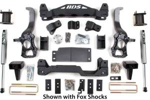 """Steering And Suspension - Lift & Leveling Kits - BDS Suspension - BDS 1505H 6"""" Suspension Lift Kit - 2014 Ford F150 2WD"""