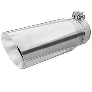 "Exhaust - Exhaust Tips - Magnaflow - Bolt On 4"" to 5"" T-304 Stainless Steel Double Wall Tip - 13"" Length"