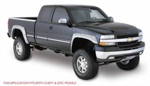 Exterior - Fender Flares - Bushwacker - Bushwacker 40051-02/40052-02 Cut-Out Style Fender Flares for 03-06 Chevy Silverado 1500, 2500HD, 3500HD (Non-Dually) Standard & Long Bed Front and Rear