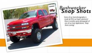 Exterior - Fender Flares - Bushwacker - Bushwacker 40917-02 Pocket Style Fender Flares for 99-02 Chevy Silverado 1500, 2500HD, 3500HD (Non-Dually) Standard & Long Bed