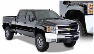 Exterior - Fender Flares - Bushwacker - Bushwacker 40949-02 Cut-Out Style Fender Flares for 07.5-14 Chevy Silverado 1500, 2500HD, 3500HD (Non-Dually) Standard & Long Bed