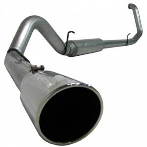 "Exhaust - Exhaust Systems - MBRP - MBRP S6200409 4"" SS Turbo Back Exhaust w/Tip 99-03 7.3L Powerstroke"