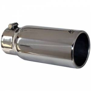 "Exhaust - Exhaust Tips - MBRP - MBRP T5050 4""x5""x12"" SS Rolled Straight Cut Single Wall Exhaust Tip"