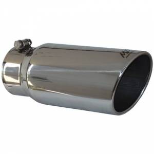 "Exhaust - Exhaust Tips - MBRP - MBRP T5051 - 4"" x 5"" x 12"" Single Wall Angled Rolled End tip"