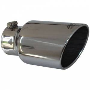 "Exhaust - Exhaust Tips - MBRP - MBRP T5073 4"" x 6"" x 12"" Angled Rolled End exhaust tip"