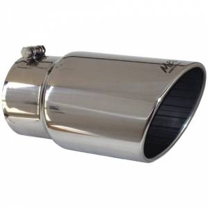 "Exhaust - Exhaust Tips - MBRP - MBRP T5075 5""x6""x12"" Stainless Steel Angled Rolled End Exhaust Tip"